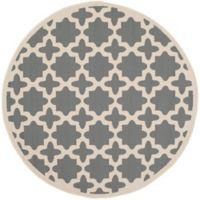 Safavieh Courtyard 4-Foot x 4-Foot Alani Indoor/Outdoor Rug in Anthracite/Beige