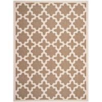 Safavieh Courtyard 8-Foot x 11-Foot Alani Indoor/Outdoor Rug in Brown/Bone