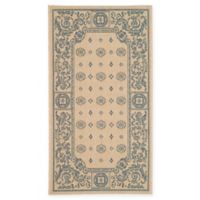 Safavieh Courtyard 2-Foot 7-Inch x 5-Foot Aubrey Indoor/Outdoor Rug in Natural/Blue