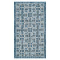 Safavieh Courtyard 2-Foot x 3-Foot 7-Inch Kairi Indoor/Outdoor Rug in Navy/Grey
