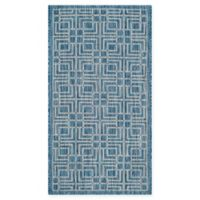 Safavieh Courtyard 2-Foot 7-Inch x 5-Foot Kairi Indoor/Outdoor Rug in Navy/Grey