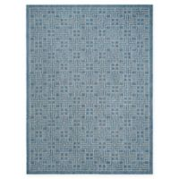 Safavieh Courtyard 8-Foot x 11-Foot Kairi Indoor/Outdoor Rug in Navy/Grey