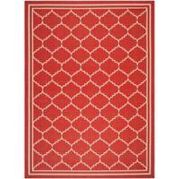 Safavieh Courtyard 8-Foot x 11-Foot Remi Indoor/Outdoor Rug in Red/Beige