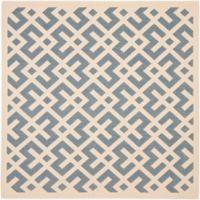 Safavieh Courtyard 4-Foot x 4-Foot Henley Indoor/Outdoor Rug in Blue/Bone