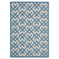 Safavieh Courtyard 4-Foot x 5-Foot 7-Inch Henley Indoor/Outdoor Rug in Beige/Blue