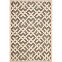 Safavieh Courtyard 5-Foot 3-Inch x 7-Foot 7-Inch Henley Indoor/Outdoor Rug in Grey/Bone