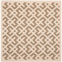 Safavieh Courtyard 6-Foot 7-Inch x 6-Foot 7-Inch Henley Indoor/Outdoor Rug in Brown/Bone