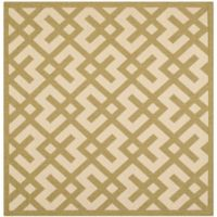 Safavieh Courtyard 6-Foot 7-Inch x 6-Foot 7-Inch Henley Indoor/Outdoor Rug in Beige/Green