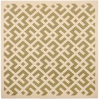 Safavieh Courtyard 6-Foot 7-Inch x 6-Foot 7-Inch Henley Indoor/Outdoor Rug in Green/Bone