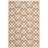 Safavieh Courtyard 6-Foot 7-Inch x 9-Foot 6-Inch Henley Indoor/Outdoor Rug in Brown/Bone