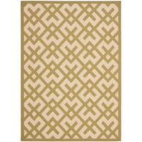 Safavieh Courtyard 6-Foot 7-Inch x 9-Foot 6-Inch Henley Indoor/Outdoor Rug in Beige/Green