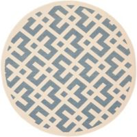 Safavieh Courtyard 7-Foot 10-Inch x 7-Foot 10-inch Henley Indoor/Outdoor Rug in Blue/Bone