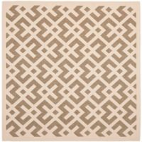 Safavieh Courtyard 7-Foot 10-Inch x 7-Foot 10-inch Henley Indoor/Outdoor Rug in Brown/Bone