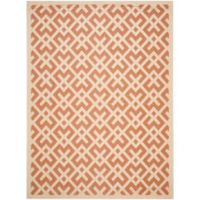 Safavieh Courtyard 8-Foot x 11-Foot Henley Indoor/Outdoor Rug in Terracotta/Bone