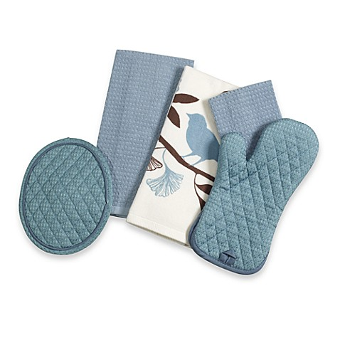 Solid Oven Mitt in Blue