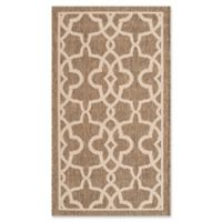 Safavieh Courtyard 2-Foot 7-Inch x 5-Foot Kendra Indoor/Outdoor Rug in Mocha/Beige