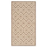 Safavieh Courtyard 2-Foot x 3-Foot 7-Inch Lauryn Indoor/Outdoor Rug in Brown/Bone