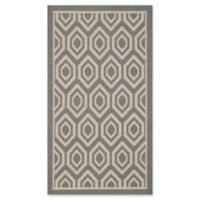 Safavieh Courtyard 2-Foot x 3-Foot 7-Inch Lauryn Indoor/Outdoor Rug in Anthracite/Beige