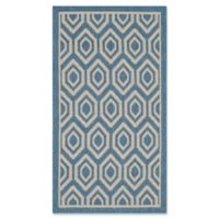 Safavieh Courtyard 2-Foot x 3-Foot 7-Inch Lauryn Indoor/Outdoor Rug in Blue/Beige