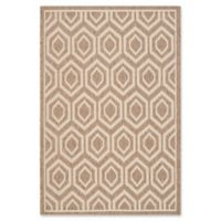 Safavieh Courtyard 2-Foot 7-Inch x 5-Foot Lauryn Indoor/Outdoor Rug in Brown/Bone