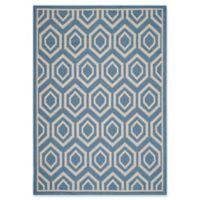 Safavieh Courtyard 5-Foot 3-Inch x 7-Foot 7-Inch Lauryn Indoor/Outdoor Rug in Blue/Beige
