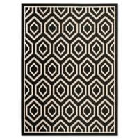 Safavieh Courtyard 8-Foot x 11-Foot Lauryn Indoor/Outdoor Rug in Black/Beige