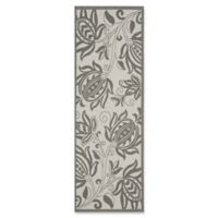 Safavieh Courtyard 2-Foot 3-Inch x 6-Foot 7-Inch Kira Indoor/Outdoor Rug in Light Grey/Anthracite