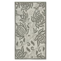Safavieh Courtyard 2-Foot 7-Inch x 5-Foot Kira Indoor/Outdoor Rug in Light Grey/Anthracite