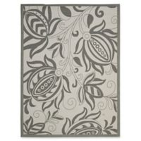 Safavieh Courtyard 8-Foot x 11-Foot Kira Indoor/Outdoor Rug in Light Grey/Anthracite