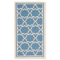 Safavieh Courtyard 2-Foot x 3-Foot 7-Inch Mariam Indoor/Outdoor Rug in Blue/Beige
