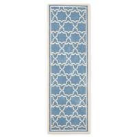 Safavieh Courtyard 2-Foot 3-Inch x 6-Foot 7-Inch Mariam Indoor/Outdoor Rug in Blue/Beige