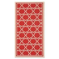 Safavieh Courtyard 2-Foot 7-Inch x 5-Foot Mariam Indoor/Outdoor Rug in Red/Bone