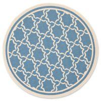 Safavieh Courtyard 5-Foot 3-Inch x 5-Foot 3-Inch Mariam Indoor/Outdoor Rug in Blue/Beige