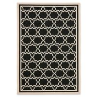 Safavieh Courtyard 5-Foot 3-Inch x 7-Foot 7-Inch Mariam Indoor/Outdoor Rug in Black/Beige