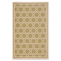 Safavieh Courtyard 5-Foot 3-Inch x 7-Foot 7-Inch Mariam Indoor/Outdoor Rug in Green/Beige