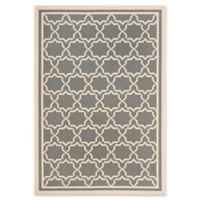 Safavieh Courtyard 5-Foot 3-Inch x 7-Foot 7-Inch Mariam Indoor/Outdoor Rug in Anthracite/Beige