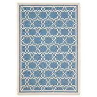 Safavieh Courtyard 5-Foot 3-Inch x 7-Foot 7-Inch Mariam Indoor/Outdoor Rug in Blue/Beige