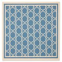 Safavieh Courtyard 6-Foot 7-Inch x 6-Foot 7-Inch Mariam Indoor/Outdoor Rug in Blue/Beige