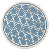 Safavieh Courtyard 7-Foot 10-Inch x 7-Foot 10-inch Mariam Indoor/Outdoor Rug in Blue/Beige