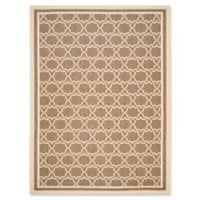 Safavieh Courtyard 8-Foot x 11-Foot Mariam Indoor/Outdoor Rug in Brown/Bone