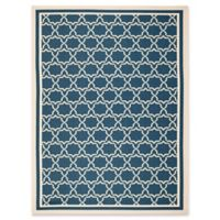 Safavieh Courtyard 9-Foot x 12-Foot Mariam Indoor/Outdoor Rug in Navy/Beige