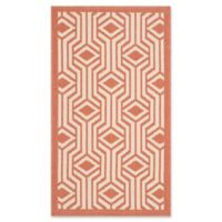 Safavieh Courtyard 2-Foot 7-Inch x 5-Foot Aylin Indoor/Outdoor Rug in Beige/Terracotta