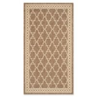 Safavieh Courtyard 2-Foot x 3-Foot 7-Inch Jordan Indoor/Outdoor Rug in Dark Beige/Beige