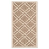 Safavieh Courtyard 2-Foot x 3-Foot 7-Inch Margot Indoor/Outdoor Rug in Brown/Bone