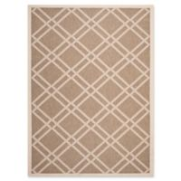 Safavieh Courtyard 5-Foot 3-Inch x 7-Foot 7-Inch Margot Indoor/Outdoor Rug in Brown/Bone