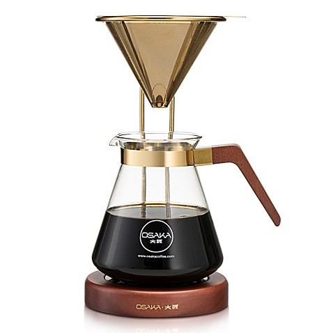 Osaka Gold Pour-Over Coffee Dripper with Stand