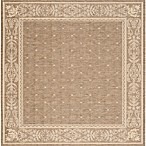 Safavieh Courtyard 7-Foot 10-Inch x 7-Foot 10-inch Alyssa Indoor/Outdoor Rug in Brown/Natural