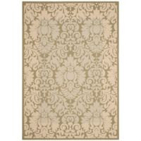 Safavieh Courtyard 8-Foot x 11-Foot Amy Indoor/Outdoor Rug in Olive/Natural