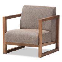 Baxton Studio Valencia Lounge Chair in Brown