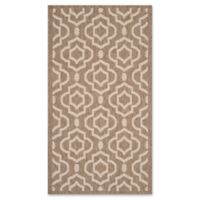Safavieh Courtyard 2-Foot 7-Inch x 5-Foot Ansley Indoor/Outdoor Rug in Brown/Bone